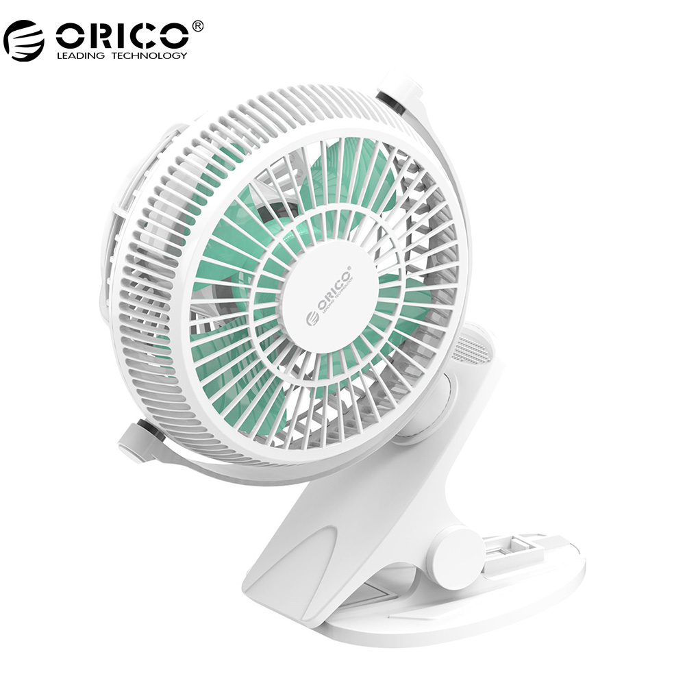 ORICO USB Fan Mini Electrical Fan With Key Switch Angle Adjustable USB Fan All-round Rotation For Laptops Desktop Power Bank