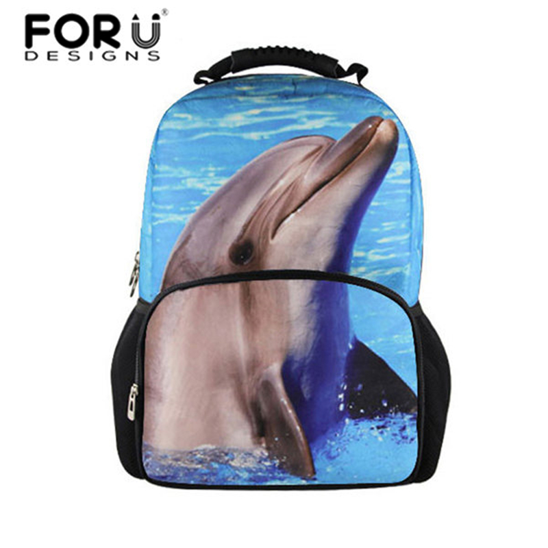 Dolphin Backpacks Women Lovely Alaska Cat Printing Backpack Girls Back to School Bags for Teen Boys Chidlren Mochila Back Pack