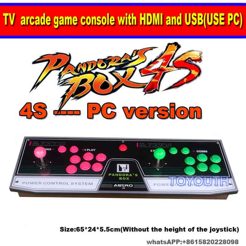 Newest Pandora box 4s plus 986 815680 game console arcade game control panel for TV