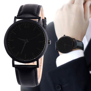 relogio masculino 2018 Hot Sale Watch Men Leather Band Analog Quartz Round WristWatches erkek kol saati reloj hombre Clock Hour