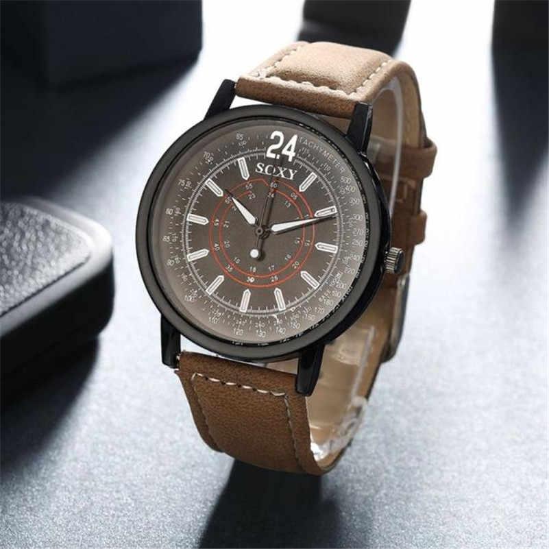 באיכות גבוהה מותג אופנה יוקרה קוורץ אנלוגי Mens שעון עור בנד גברים ספורט שעון יד שעה שעון relogio masculino Q5