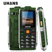 Uhans V5 Водонепроницаемый противоударный старший сотовый телефон Dual SIM 2500 мАч Power Bank большой box speaker фонарик мобильный телефон PK oeina XP7