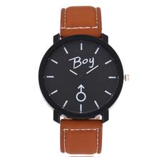 2017 Lovers watch Men Women Simple Leather Band Quartz Wrist Lovers Watch super quality horloges mannen relogios femininos Z10