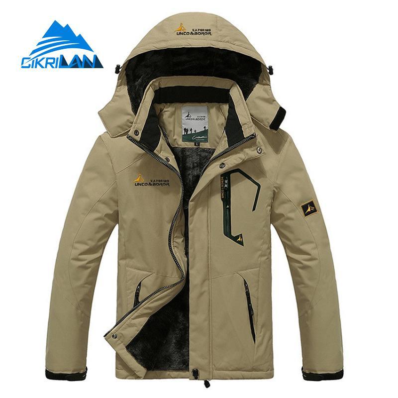 Warm Mens Winter Windstopper Outdoor Camping Hiking Jacket Men Water Resistant Fishing Jaqueta Masculino Climbing Skiing Coat