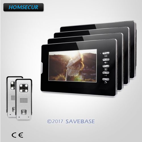 HOMSECUR Video Phone Call System with Intra-monitor Audio Interaction for Home Security