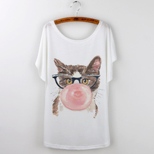 Cute Cat T-Shirts Women