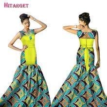 Uudet Afrikkalainen mekot naisille Bazin Riche 2017 Muoti Elegantti Patchwork Mermaid Vestidos Mekot Ankara Afrikkalainen Vaatteet WY1535