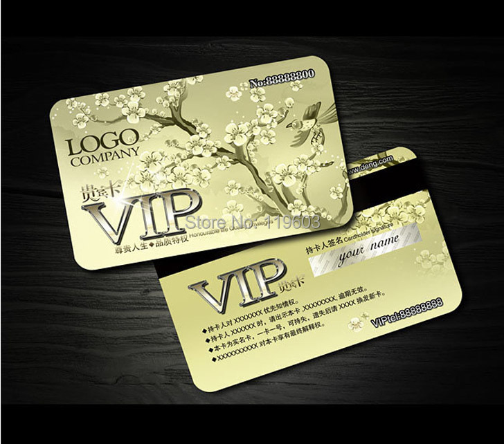 Aliexpress Buy Hot Sale Gold Silver Colour Printed – Membership Cards Design