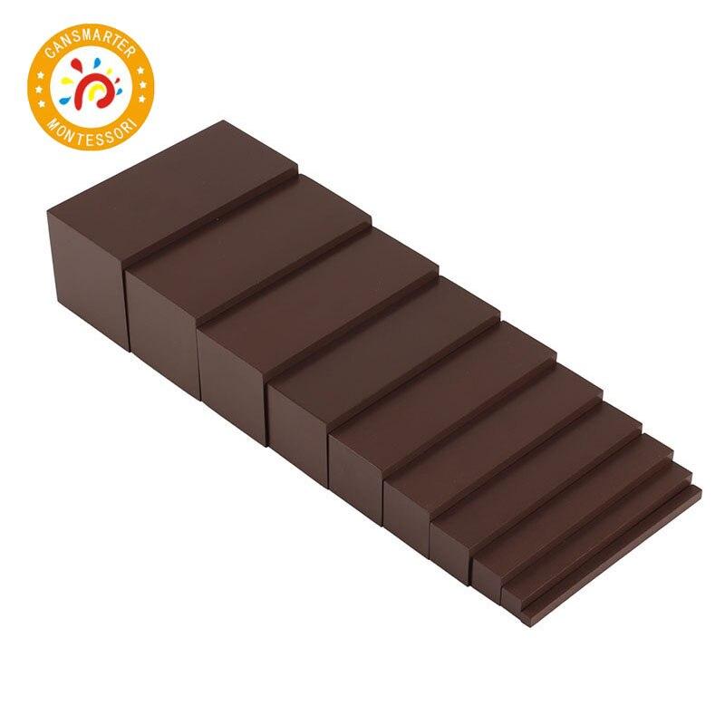 Maths jouets enfants jeux Montessori enfants bois de haute qualité jouet brun escaliers préscolaire formation aides enfants jouet sensoriel SE006-3