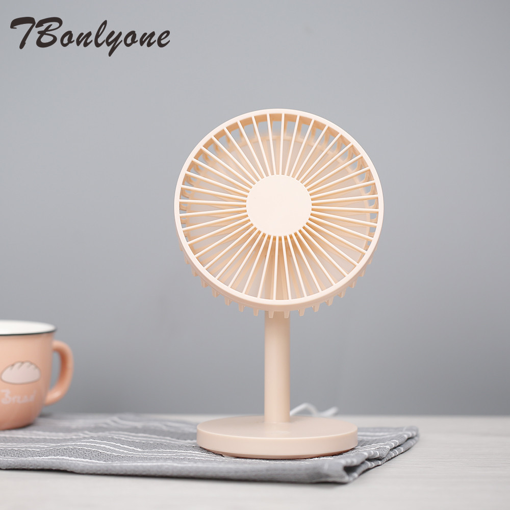 TBonlyone 3 Speeds USB Desk Fan For Students Office Room 4 Colors Table Fan Air Cooling Fan Cooler USB Mini Fan With Large Wind
