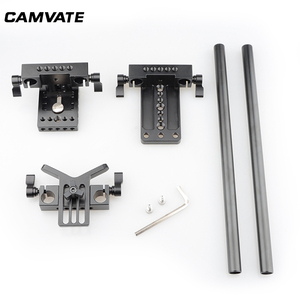 Image 5 - CAMVATE DSLR Camera Shoulder Support Kit With Baseplate Mount & Lens Suppor & Tripod Mounting Plate For Cage/ Tripod/ Stabilizer
