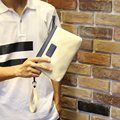 New 2016 Fashion leisure Men's Wallet PU Leather High quality Zipper Business Purses Male Clutch Bag  Small hand bag