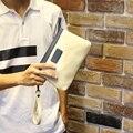 Nuevo 2016 hombres de Moda de ocio Billetera de Cuero de LA PU de Alta calidad de Negocios Cremallera Monederos Hombre Bolsa de Embrague bolsa de mano Pequeña