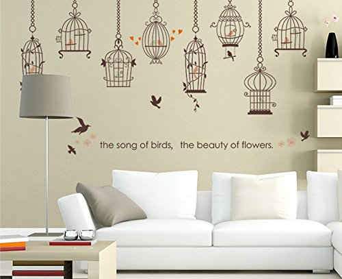 Stick Wall Decals PVC Wall Stickers Living Room Decorations Bird ...