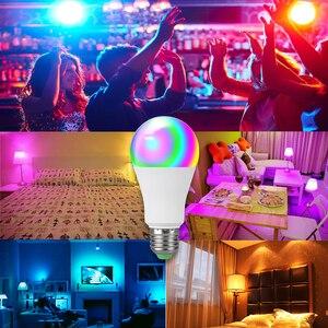 Image 4 - Rgbw rgbww sem fio luz noturna rgb lâmpada 15w 10 5w AC85 265V inteligente lâmpada/luz bluetooth app ou ir controle remoto noite lâmpada