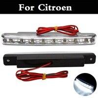 New 2017 12V DC LED Daytime Running Lights Drl Fog Lights Strobe Lamp Bar For Citroen