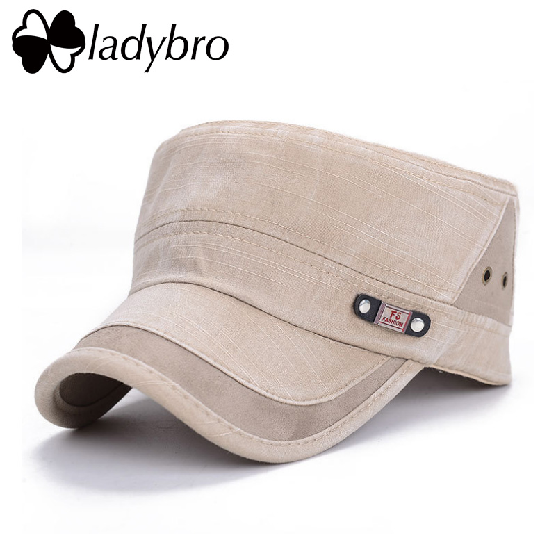 Ladybro Men Hat Cap Women Flat Army Hat Snapback Female Baseball Cap - Kledingaccessoires - Foto 3