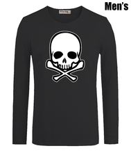 Fashion Skull Graphic Print Men's Boy's T Shirts Casual Long Sleeve Newest High-quality Men T-shirt