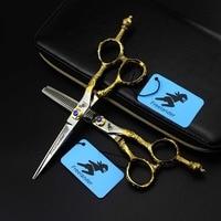 6 hair cutting scissors hairdresser kits clipper japanese hairdressing scissors hot hair shears for barber scissors japan