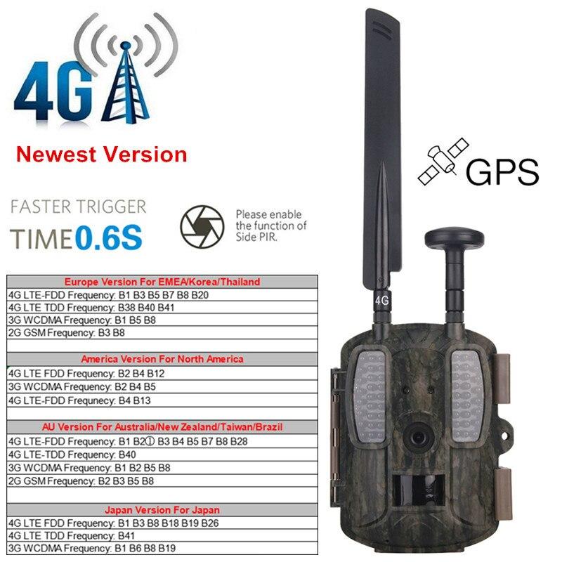 4G Hunting Camera Night Vision Camera 4G Scouting Infrared Hunter Camera Photo Traps WildKamera Digital Foto