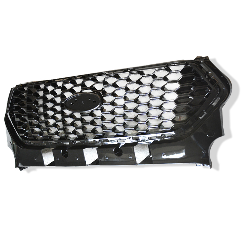 CITYCARAUTO FRONT RACING GRILL GRILLS BUMPER MASK FIT FOR FORD KUGA ESCAPE 2017 2018 CAR GRILLE auto pro car styling for ford kuga escape chrome grille strip trim 2013 2015 for kuga front face grille stickers highlight trim