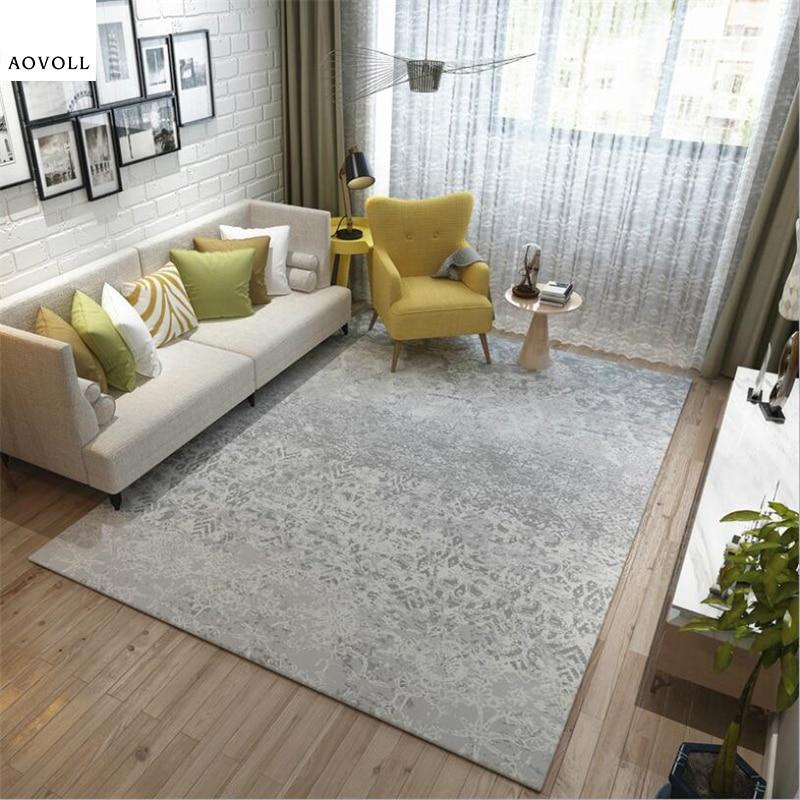 AOVOLL nordique Simple Style doux tapis pour salon chambre enfant chambre tapis maison tapis plancher porte tapis mode grand tapis
