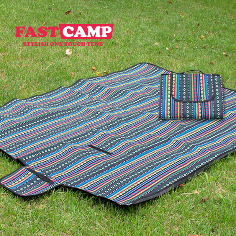 Image 3 - VILEAD 2 Size Indian Beach Picnic Camping Mat  Folding Waterproof Portable Hike Outdoor Blanket Pic Nic Tarp Foldable Mattress-in Camping Mat from Sports & Entertainment