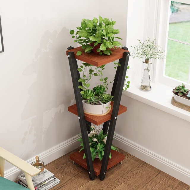 European Balcony And Indoor Flower Pot Holder Garden Stand Iron Pergolas White Black Brown