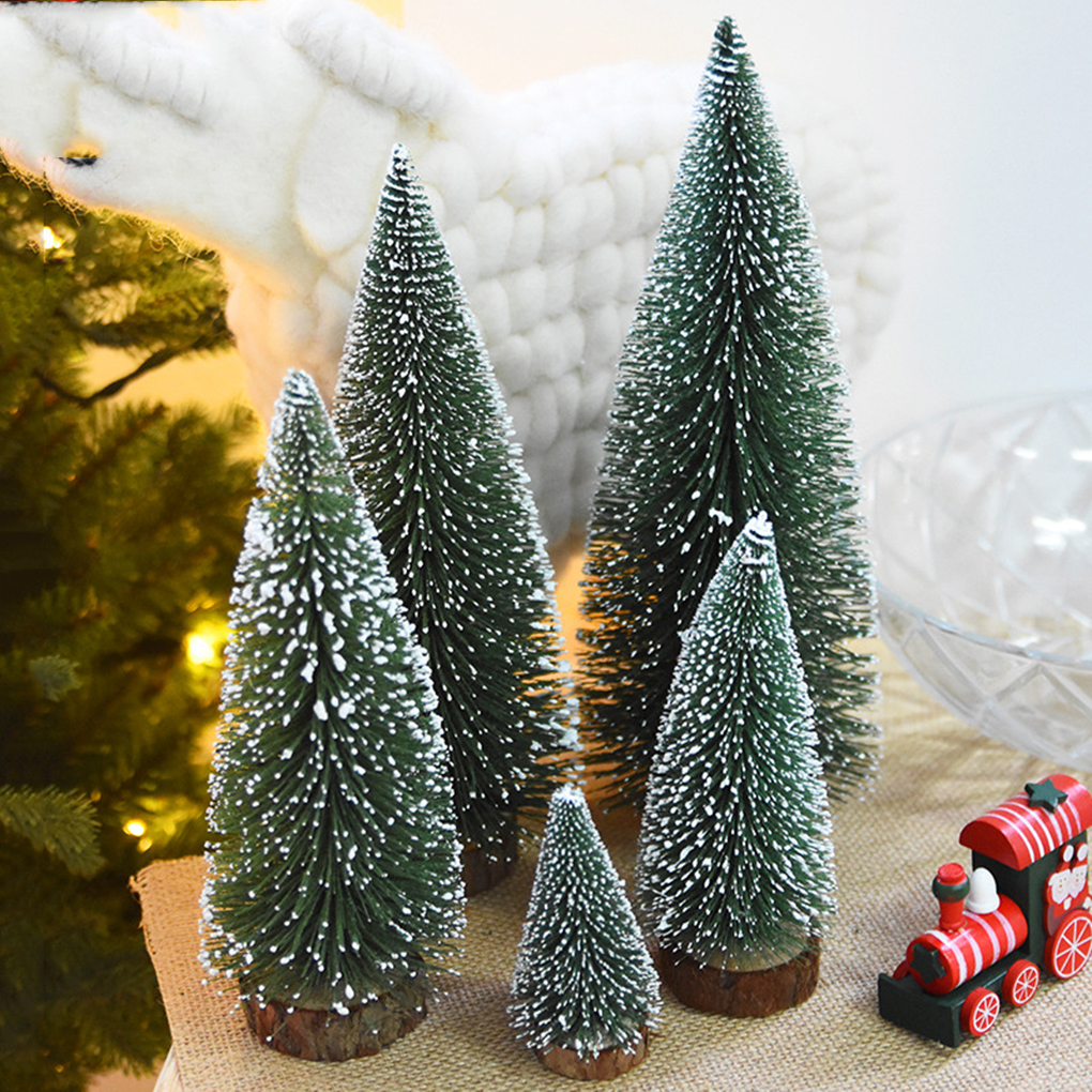 4 size Artificial Tabletop Mini Pine Christmas Trees ...