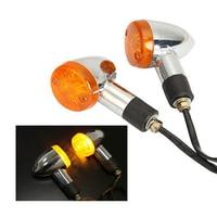 2 PCS Motorcycle Motorbike Amber Turn Signal Lights For Kawasaki Vulcan VN 750 800 900 1500