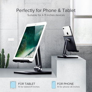 Image 2 - Ugreen Mobile Phone Holder Stand Aluminium Alloy Metal Tablet Stand Universal Holder For iPhone iPad Xiaomi Desktop Phone Holder
