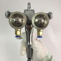 SAT1189 chất lượng cao đôi vòi phun gun 1.3 mét vòi phun thép không gỉ súng sơn chrome khẩu súng không khí áp lực cao khí nén phun