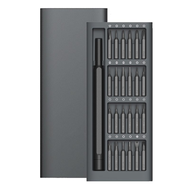 Wiha uso diário kit 24 precisão bits magnéticos caixa de alumínio diy parafuso driver casa inteligente conjunto