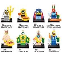 Compatível LegoINGlys NinjaINGlys Y0113 Spongebob figuras DIY Blocos de Construção Crianças Brinquedos Presente Das Crianças