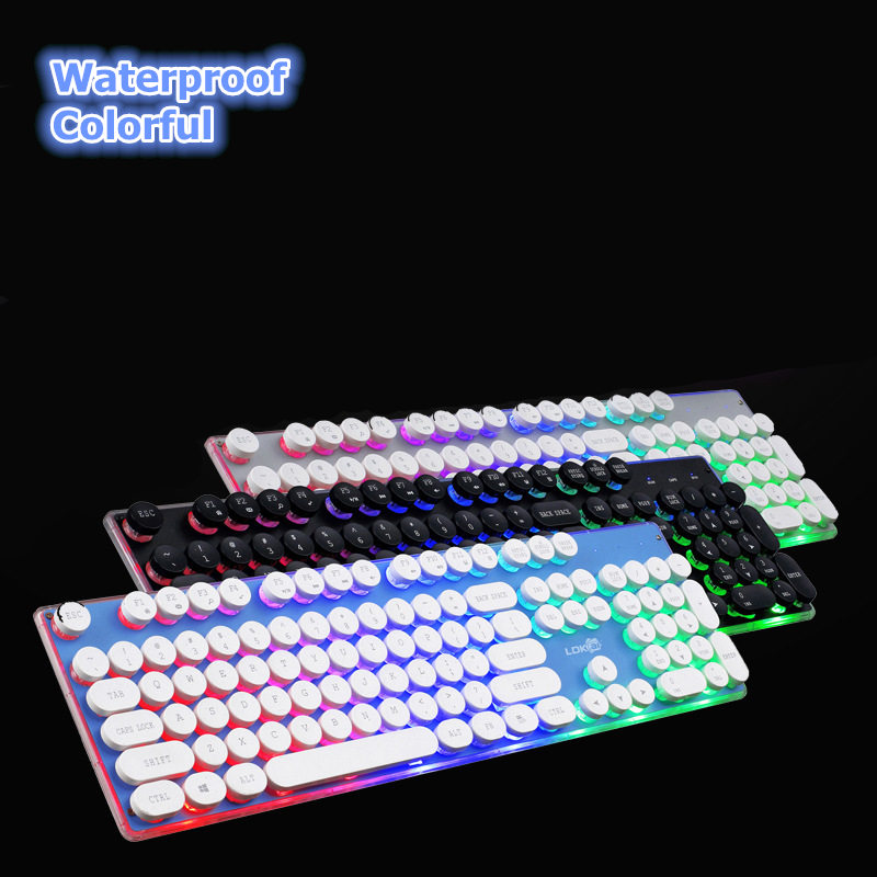 noenname null 104 mechanical keyboard usb wired gaming keyboard blue black switch with 2. Black Bedroom Furniture Sets. Home Design Ideas