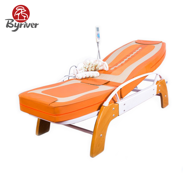цены  BYRIVER Electric Genuine Jade Stone Massage Bed 5+4 Roller Lift Function Massage Relaxation