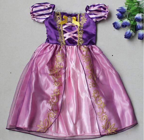 DB23655 Children Girl princess sofia dress-7
