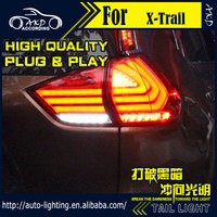 AKD Car Styling Tail Lamp for Nissan X-trail Tail Lights 2014 Rouge LED Tail Light Signal LED DRL Stop Rear Lamp Accessories