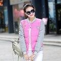 Chaqueta de invierno caliente de las mujeres de Corea delgado moda uniforme campera de abrigo para mujer corto parkas femeninos casaco feminino DX821