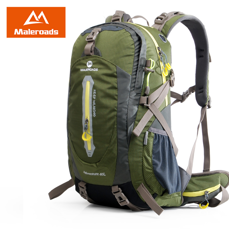 Maleroads 50L 40L Camp Hike Backpack Waterproof Travel Mochilas Teenagers Climb Bagpack  Holidays Laptop Back Bags For Men Women large 75l feel pioneer professional waterproof cr travel backpack camp hike mochilas climb bagpack laptop bag pack for men women