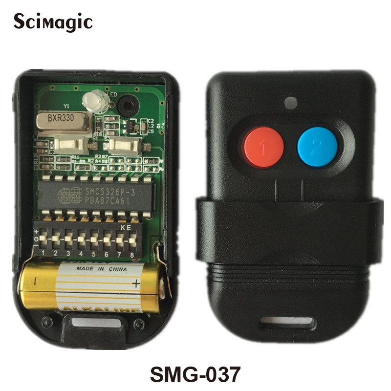 Free Shipping 330mhz SMC5326 8 dip switch remote control for gate door opener цена 2017