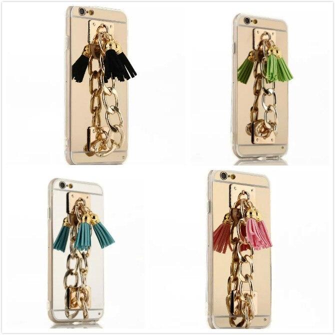 BotexBling Luxury DIY gem specular hand chain phone <font><b>case</b></font> for <font><b>iphone</b></font> X 8 <font><b>8Plus</b></font> 7 7plus 6 6s plus 5s se 6plus cover makeup mirror