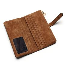 Fashion Nubuck Leather Wallet with Zipper