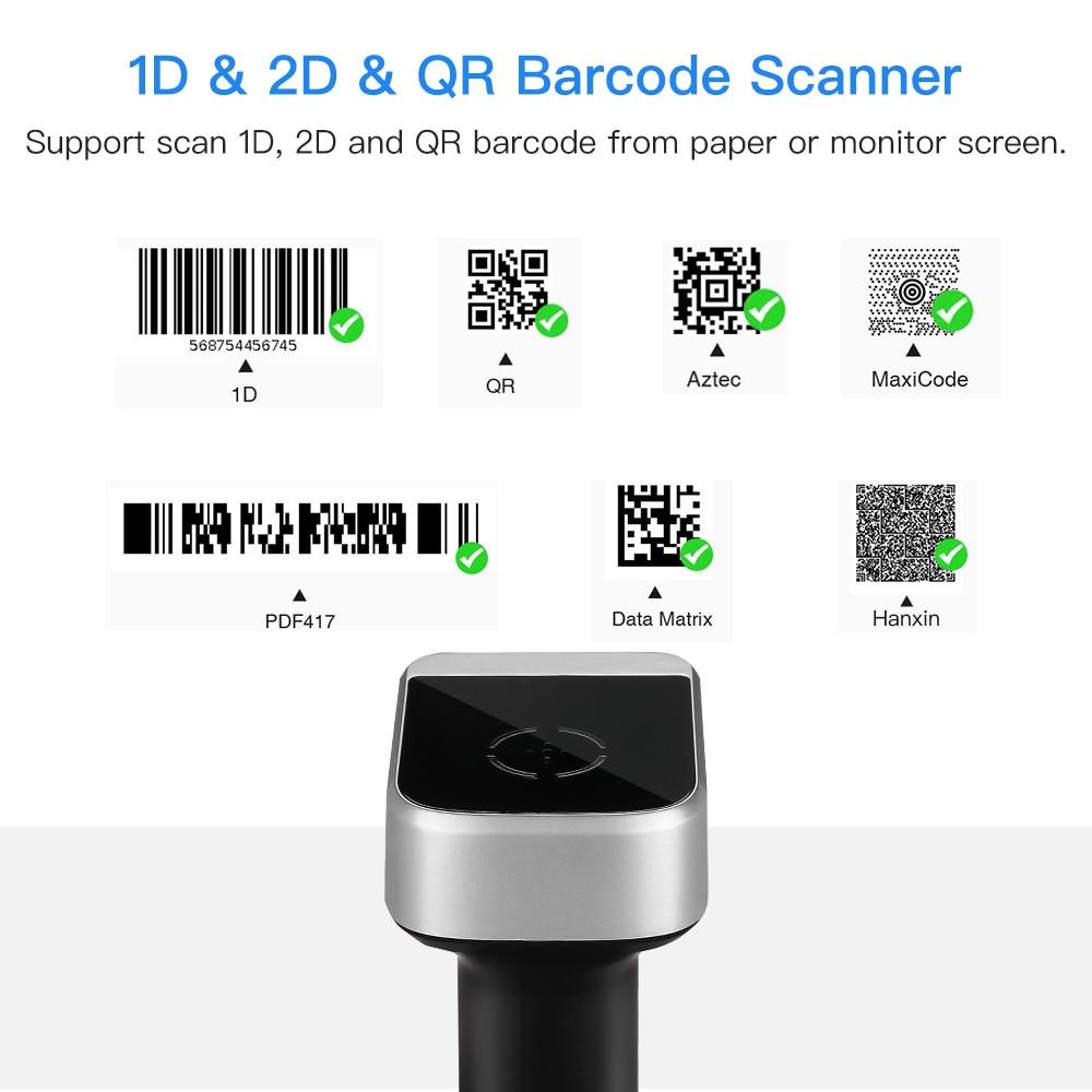 Eyoyo 2D QR Wireless Barcode Scanner Handheld Barcode Reader for PDF417  Data Matrix UPC Compatible IOS Windows