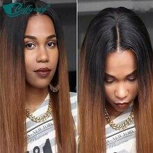2016 Fashion Ombre Lace Wig 100% Glueless Ombre Full Lace Human Hair Wig Virgin Straight Hair #1b Natural BlackT30 Medium Auburn