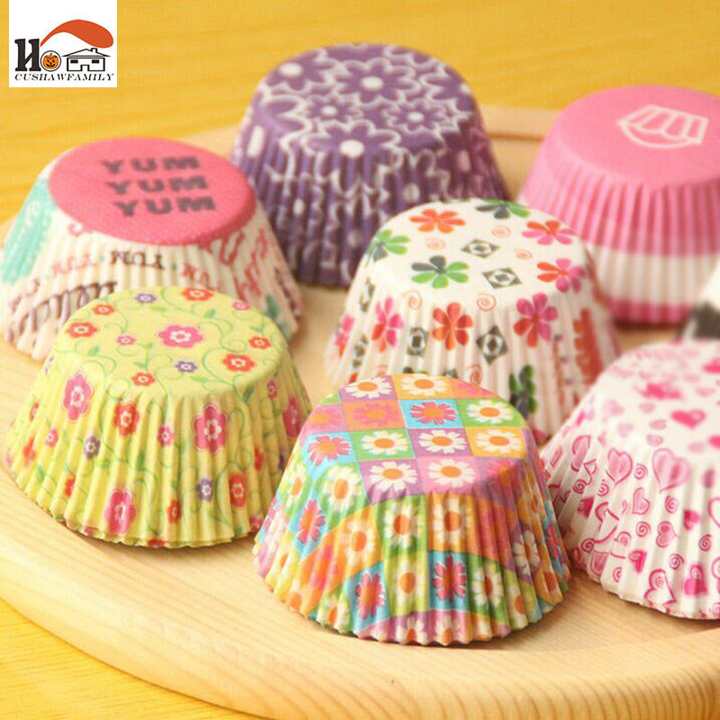 100Pcs/Lot Sale Cute Paper Cake Cup Liners Baking Cup Muffin Kitchen Cupcake dessert Ice cream Cases Decorating Baking Tools