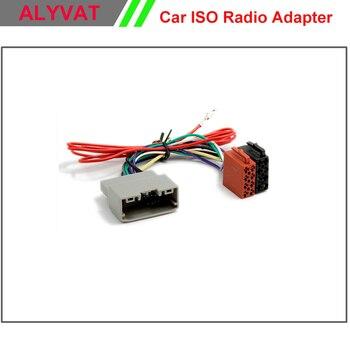 Conector de adaptador de Radio ISO para coche Chrysler 2008 + Dodge 2008 + Jeep Wrangler 2007 + arnés de cableado conector de Cable adaptador ESTÉREO
