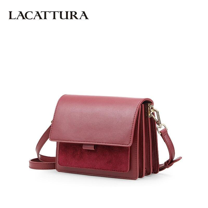 LACATTURA Women Small Shoulder Bag Fashion Organ Designer Messenger Bags Luxury Ladies Crossbody Chic Flap Handbag High Quality стоимость