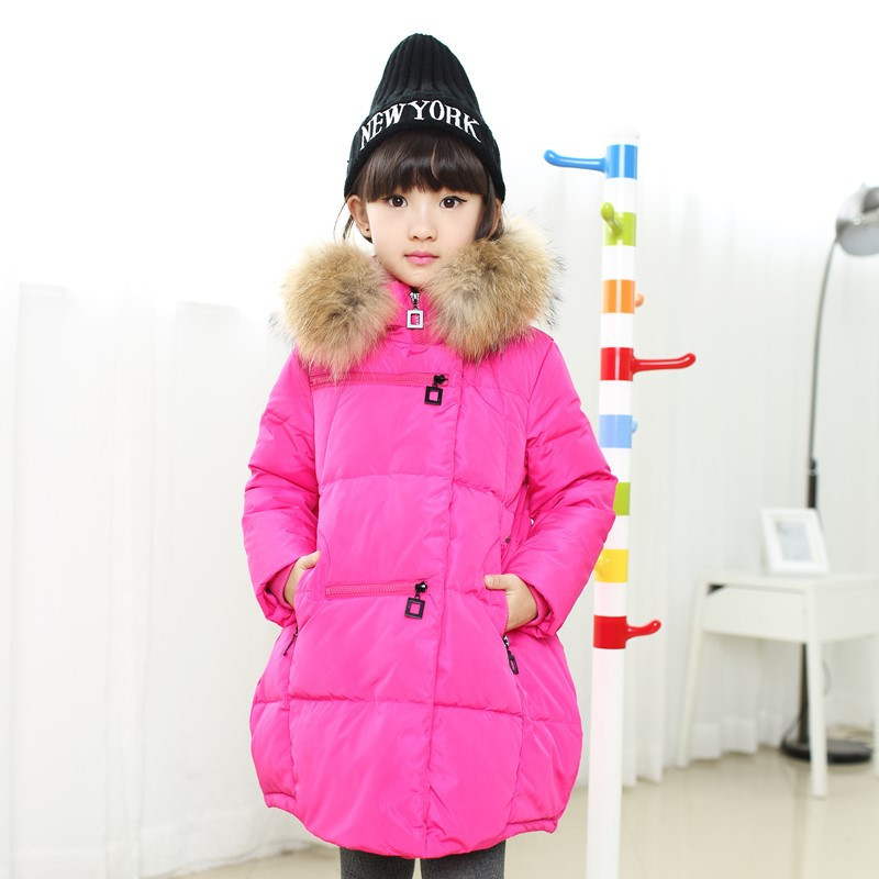 Girl Duck down Coats 2017 Girls Winter Jackets Fashion Hooded Thick Warm Winter Jacket For Girls 6 7 8 9 10 11 12 13 14 years7 fashion girl winter down jackets coats warm baby girl 100% thick duck down kids jacket children outerwears for cold winter b332
