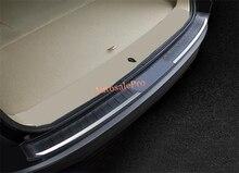 Für Toyota Highlander suv 2015 2016 ABS Kunststoff verchromt Äußere Kofferraum Stoßstange Schutzplatte abdeckung Trim 1 stücke